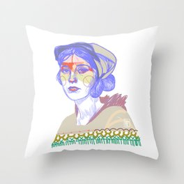 Poncholala Throw Pillow