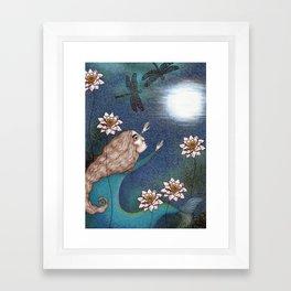 The Mermaid's Lake--Catching the Moon Framed Art Print