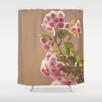 milk Shower Curtains featuring Strawberry Milk by Jessica Torres Photography