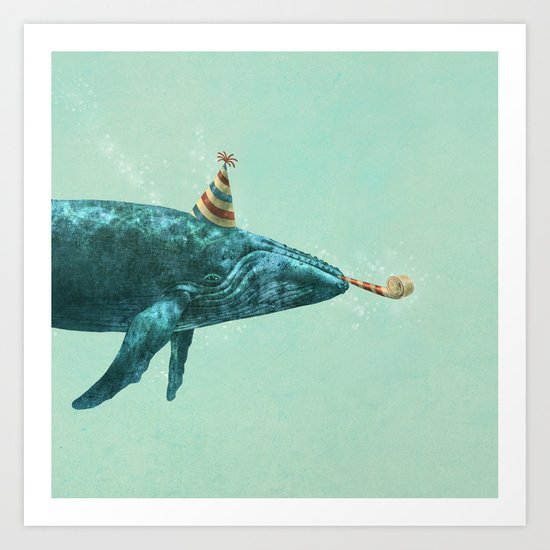 Party Whale - colour option  Art Print