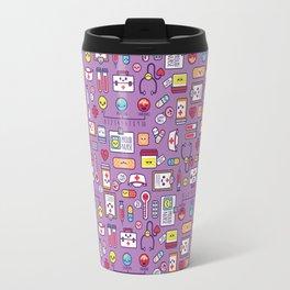 Proud To Be a Nurse Pattern / Purple Travel Mug