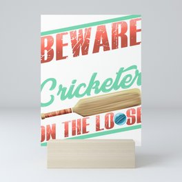 Serial Cricketer on the Loose Cricket Lover Mini Art Print