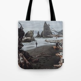 Olympic Coastline Tote Bag