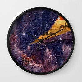 Earth Tears Into Space Wall Clock