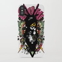 evil iPhone & iPod Cases featuring EVIL by DON'T NEED NO SAMURAI