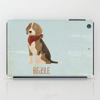 beagle iPad Cases featuring Beagle by 52 Dogs