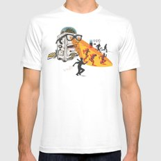 Bad Day At The Office White MEDIUM Mens Fitted Tee