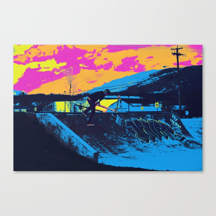 Tail Whip Scooter Stunt Canvas Print