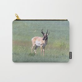 Watercolor Pronghorn Antelope 02, Wyoming, Prairie Ungulate Carry-All Pouch