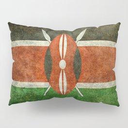 National flag of Kenya -Vintage version, to scale Pillow Sham