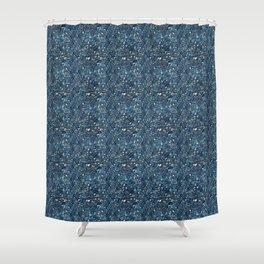 Aqua Blue Aurora Borealis Close-Up Crystal Shower Curtain