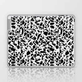 Terrazzo Spot 2 Black on White Laptop & iPad Skin