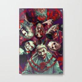Twisty Jigsaw Jason Voorhees Terminator Psychedelic Spook Show Metal Print