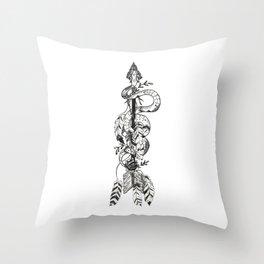 Boho Snake + Arrow Throw Pillow