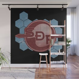 Solar System Defense Force ボーダーダウン Wall Mural