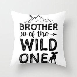 Brother Of The Wild One Throw Pillow