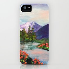 Riverbend in Spring iPhone Case