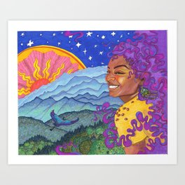 Day to Night Art Print