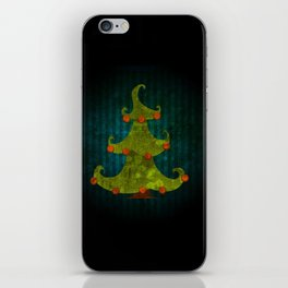 christmas tree iPhone Skin