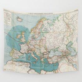 Flemmings Kriegskarten / Flemming's War Maps (1916) - 036 Submarine Warfare in Europe Wall Tapestry