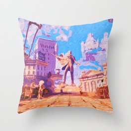Columbia - The City in the Sky Throw Pillow
