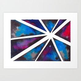 Fractal Galaxy Art Print