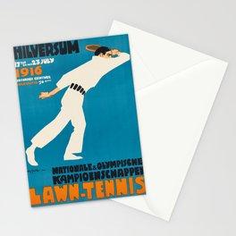 retro lawn - tennis   nationale & olympische kampioenschappen. 1910  Stationery Cards