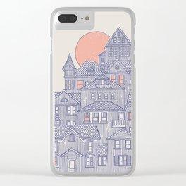 Rainy City Clear iPhone Case