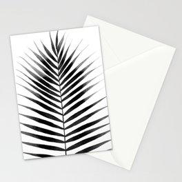 Palm Leaf Watercolor | Black and White Stationery Cards
