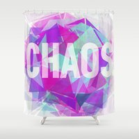 chaos Shower Curtains featuring CHAOS by artic