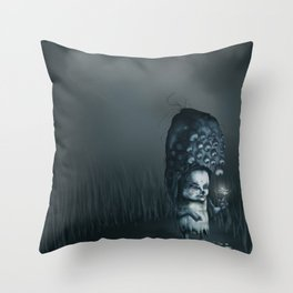 Annie in the Fields of Melancholy Throw Pillow