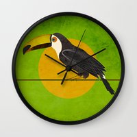 toucan Wall Clocks featuring toucan by John Beswick