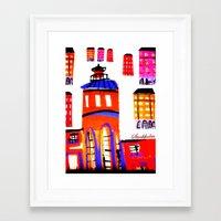 stockholm Framed Art Prints featuring Stockholm by Jokannan