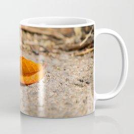 Orange leaf lying on the street Coffee Mug