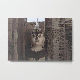 Wat Si Chum Buddha at Sukhothai Historical Park Metal Print
