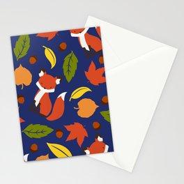 Fox Jumble - Blue Stationery Cards