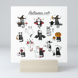 Halloween Cats In Terrible Imagery Mini Art Print