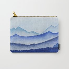 blue misty mountain ridges Carry-All Pouch