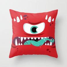 Baddest Red Monster! Throw Pillow