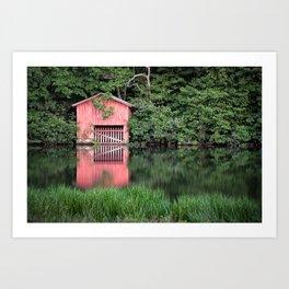 Mirror Lake House Art Print