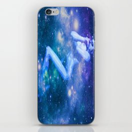 Blue Galaxy Woman : Nude Art iPhone Skin