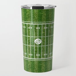 American football field(gridiron) Travel Mug