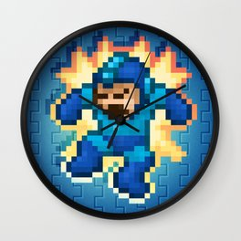 Megaman Damage Wall Clock
