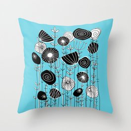 Wildflowers Grow Free Throw Pillow