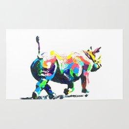 Rainbow Rhino Rug