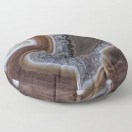 """Agate crystal texture #2 """"more detail"""" Floor Pillow"""
