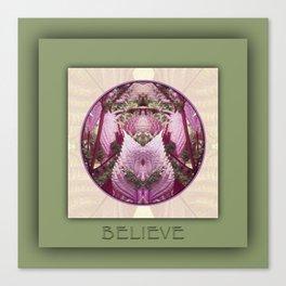 Believe Manifestation Mandala No. 2 Canvas Print
