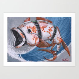 Koi Series, Number 5 is ALIVE! Art Print