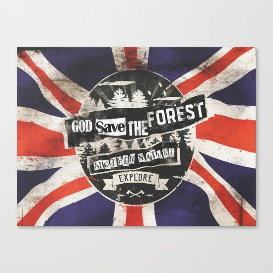 God save the forest Canvas Print
