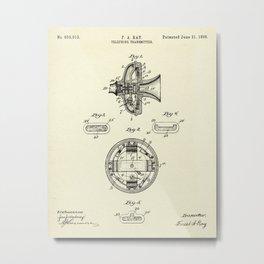Telephone Transmitter-1898 Metal Print